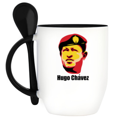Кружка с ложкой Уго Чавес