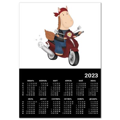 """Календарь Календарь """"Байкер"""" A3 2014"""