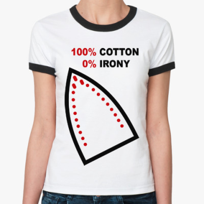 Женская футболка Ringer-T 100% хлопок, 0% железа