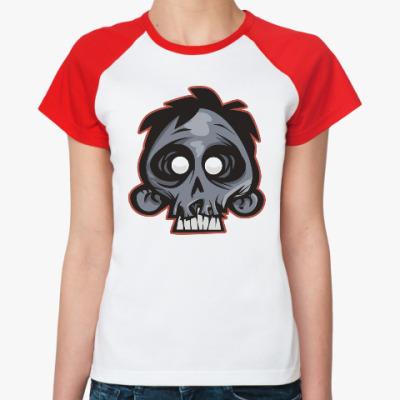 Женская футболка реглан Crazy Monkey