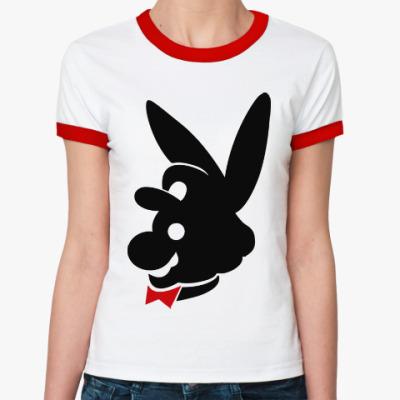 Женская футболка Ringer-T Mario Playboy