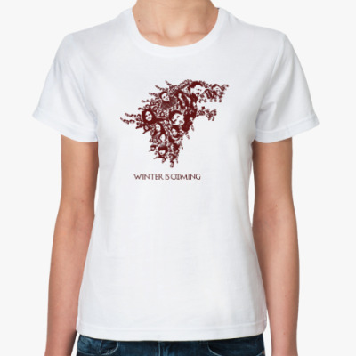 Классическая футболка Зима близко (Winter Is Coming)