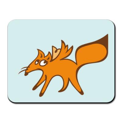 Коврик для мыши Застенчивый лис