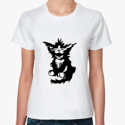 Классическая футболка Киска