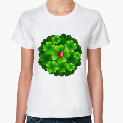 Классическая футболка Клевер и коровка
