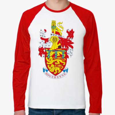 Футболка реглан с длинным рукавом Герб герцогства Ланкастерского