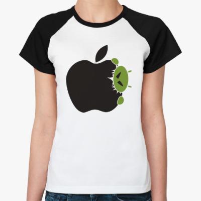 Женская футболка реглан Голодный андроид