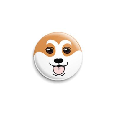 Значок 25мм Собака-улыбака