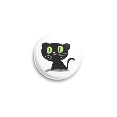 Значок 25мм Кот