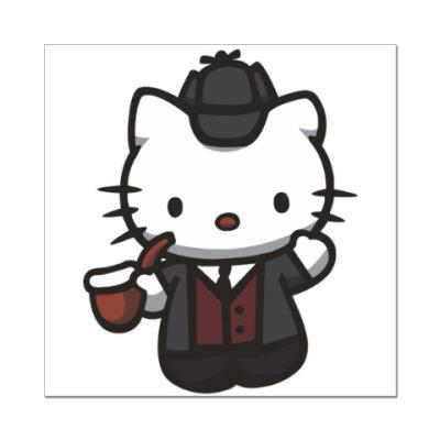 Наклейка (стикер) Китти Шерлок