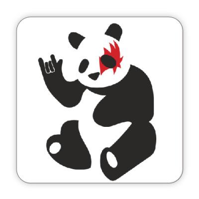 Костер (подставка под кружку) Панда рок