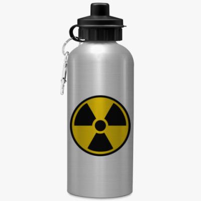 Спортивная бутылка/фляжка Радиация!