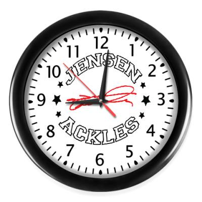 Настенные часы Дженсен Supernatural  Автограф