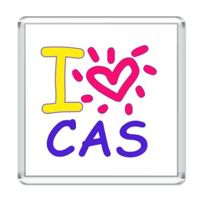 Магнит Supernatural - I love Cas