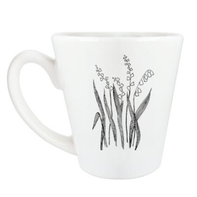 Чашка Латте Ландыши