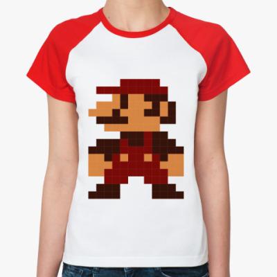 Женская футболка реглан mario