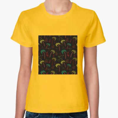 Женская футболка Пальмы