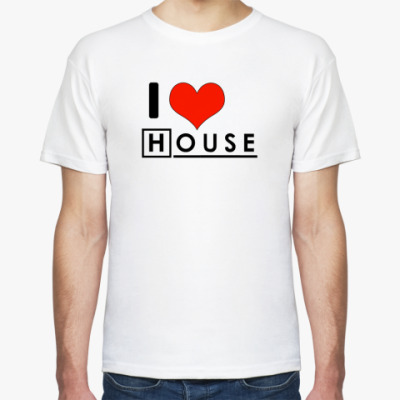 Футболка I love House