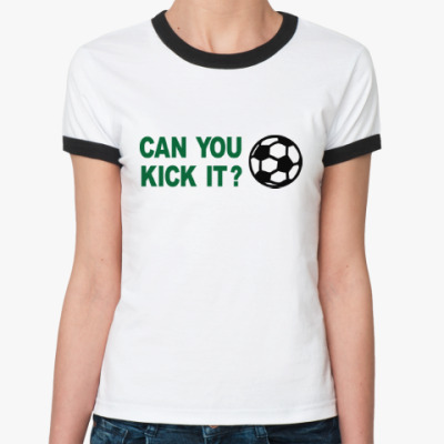 Женская футболка Ringer-T Хочешь ударить?