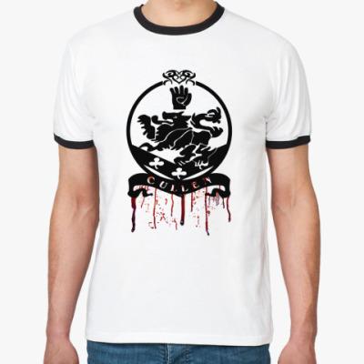 Футболка Ringer-T Bloody Cullen emblem
