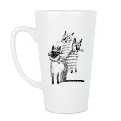 Чашка Латте Банда котов