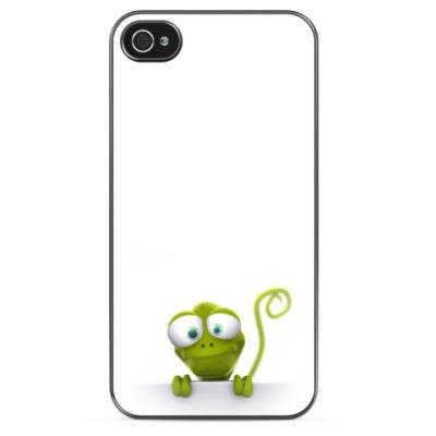 Чехол для iPhone Выглядывающая ящерица