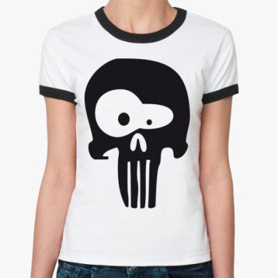 Женская футболка Ringer-T череп