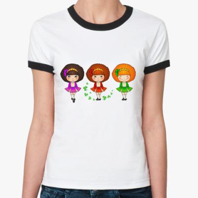 Женская футболка Ringer-T Ирландские девочки