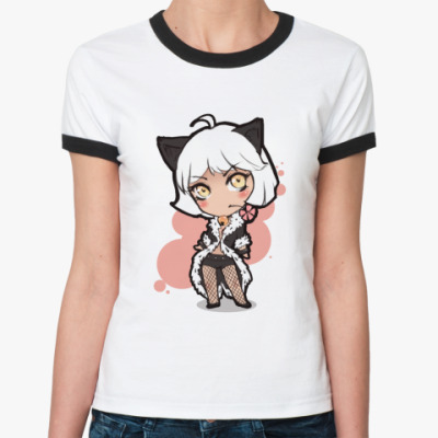 Женская футболка Ringer-T  chibi Xe