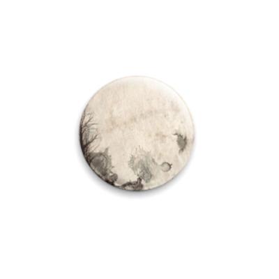 Значок 25мм moon