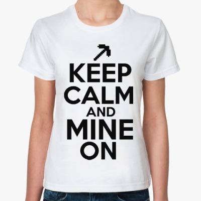 Классическая футболка Майнкрафт (Копатель)