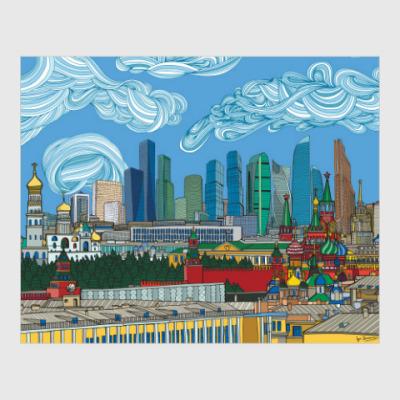 Постер Москва-Сити Skyline