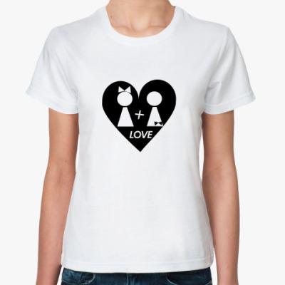 Классическая футболка Ж+Ж