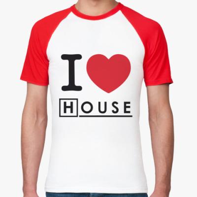 Футболка реглан I heart House