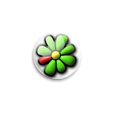 Значок 25мм ICQ