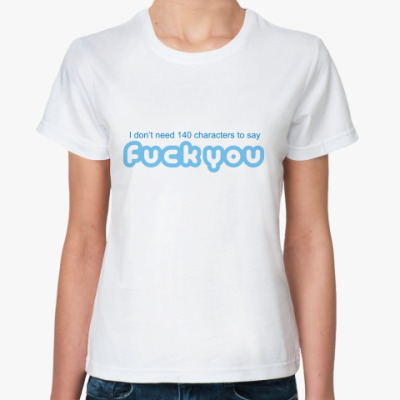 Классическая футболка 140 символов