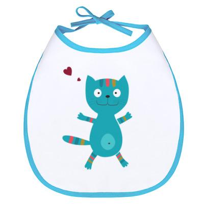 Слюнявчик Кот