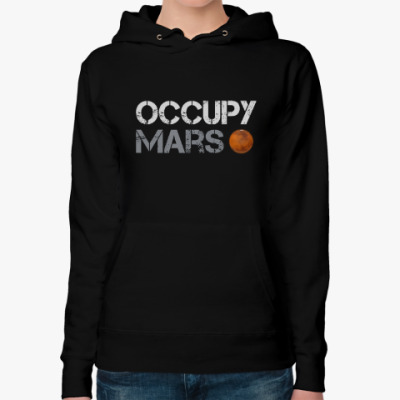 Женская толстовка худи Occupy Mars