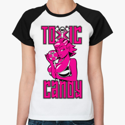 Женская футболка реглан Toxic