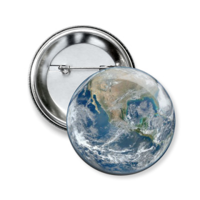 Значок 50мм Earth