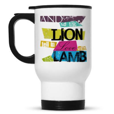 Кружка-термос Lion and lamb bright