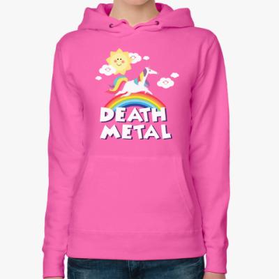 Женская толстовка худи Death Metal