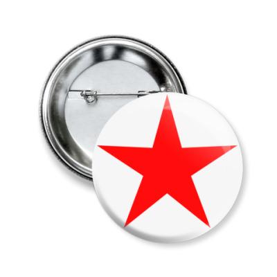Значок 50мм Red Star  50 мм