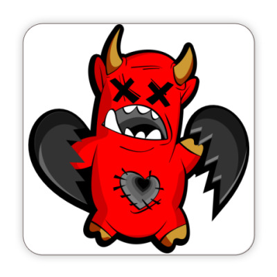 Костер (подставка под кружку) Дьяволёнок