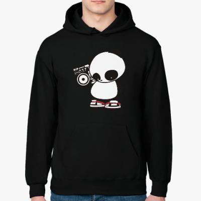 Толстовка худи Панда с магнитофоном