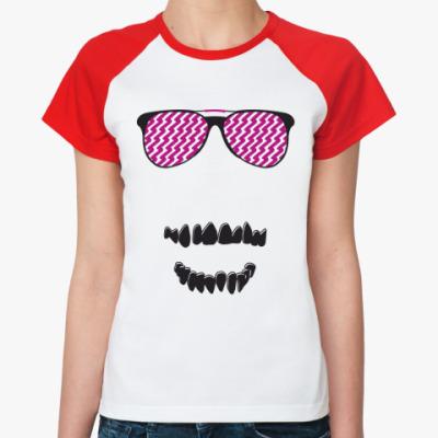 Женская футболка реглан   Очки