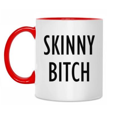 Кружка Кружка красная Skinny Bitch