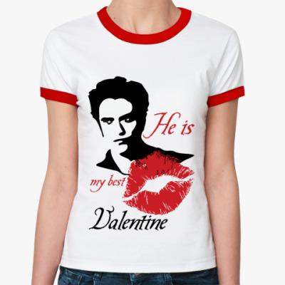 Женская футболка Ringer-T My best Valentine