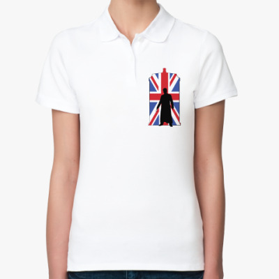 Женская рубашка поло Union Jack Doctor