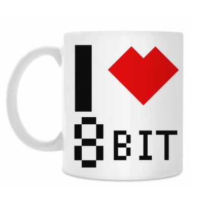 Кружка I heart 8-bit